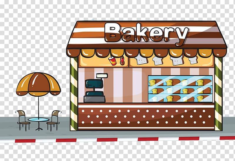 Illustration breakfast . Bakery clipart cake shop
