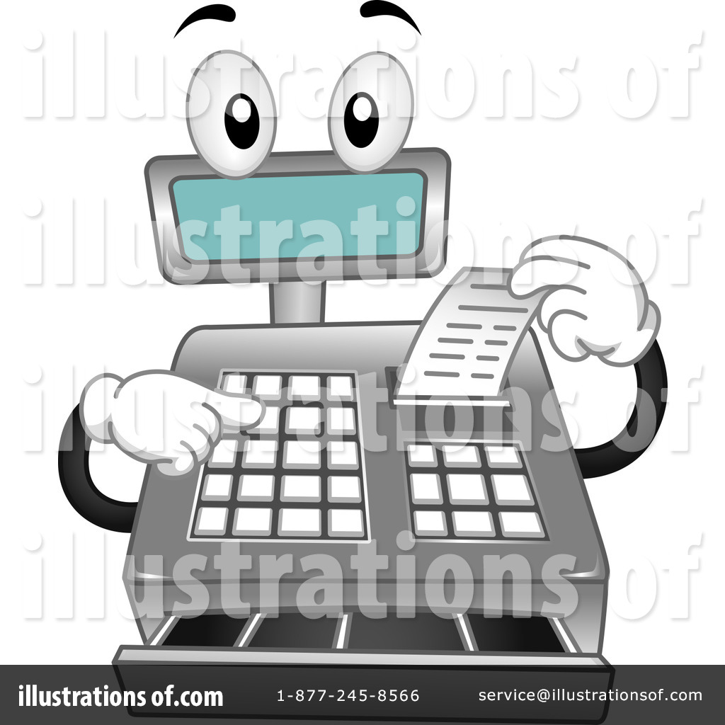 Bakery clipart cashier. Cash register illustration by