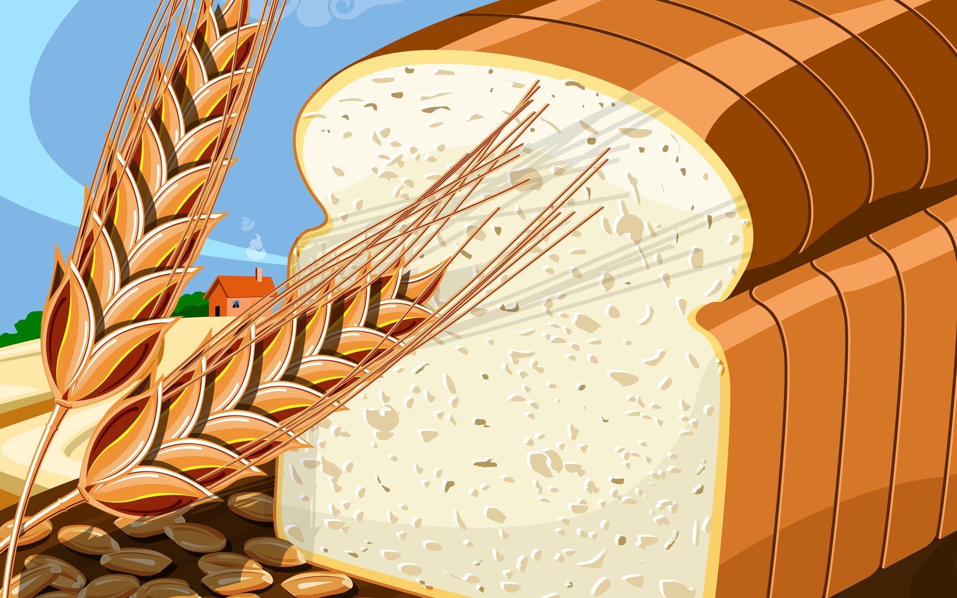 Bread cliparting com gourds. Bakery clipart cereal