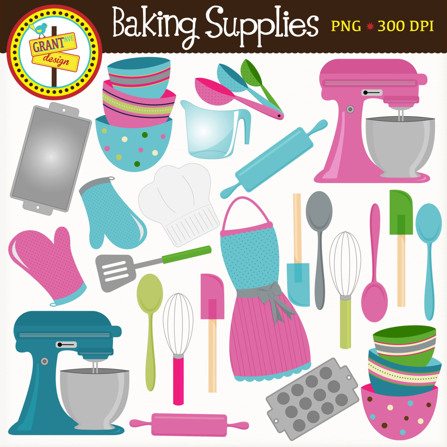 Supplies cute clip art. Baking clipart baking equipment