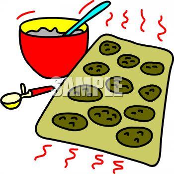 Plate of cookies panda. Bakery clipart cookie