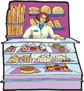 Baker clipart cartoon. Bakery station