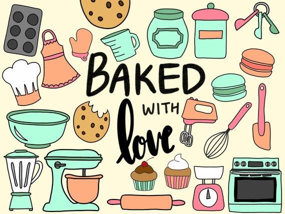Bakery clipart cute. Baking cooking clip art