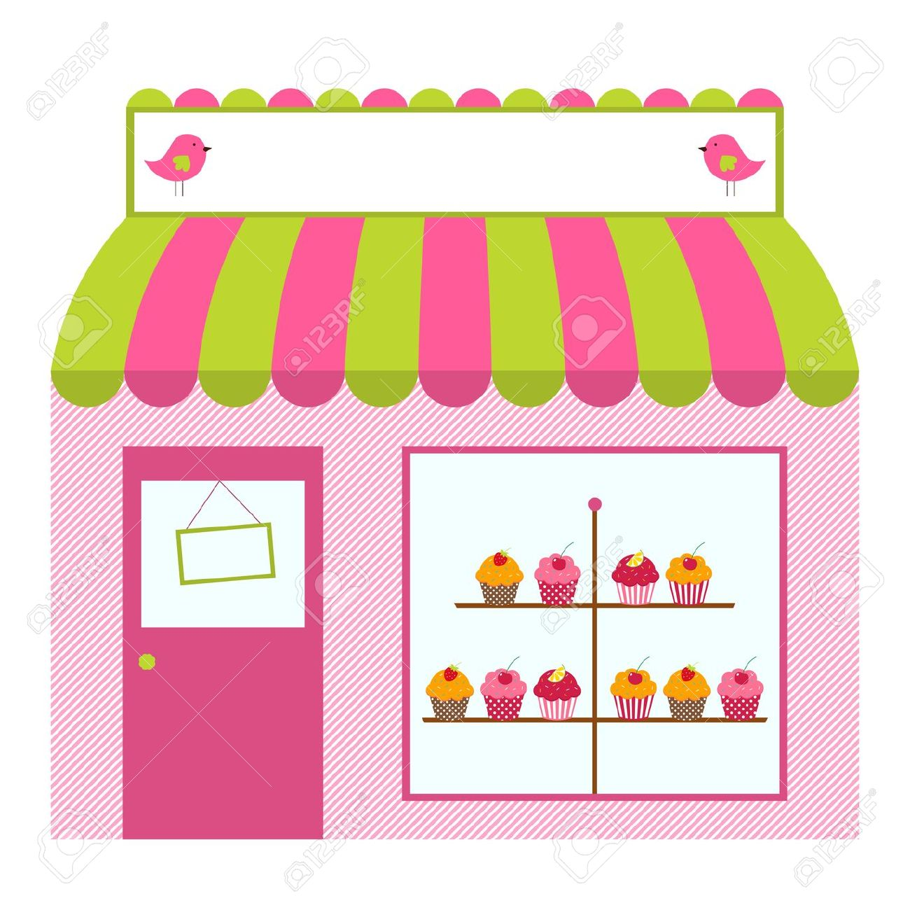 page clip art. Bakery clipart exterior