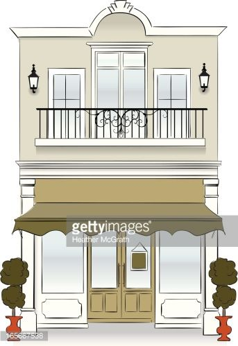 Bakery clipart exterior. French shop clip art