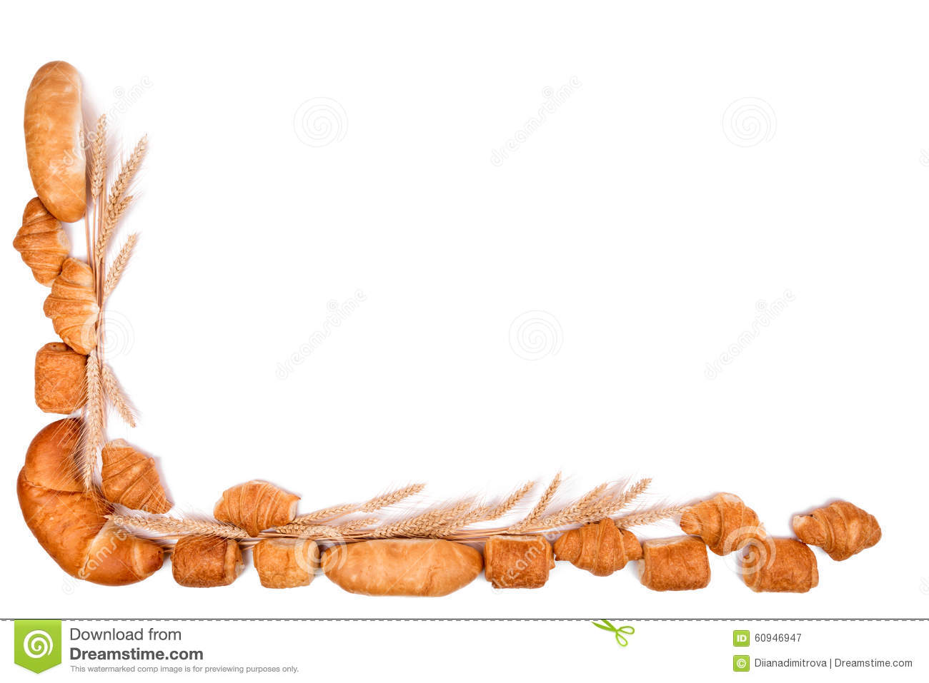Bakery clipart frame. Bread pencil and in
