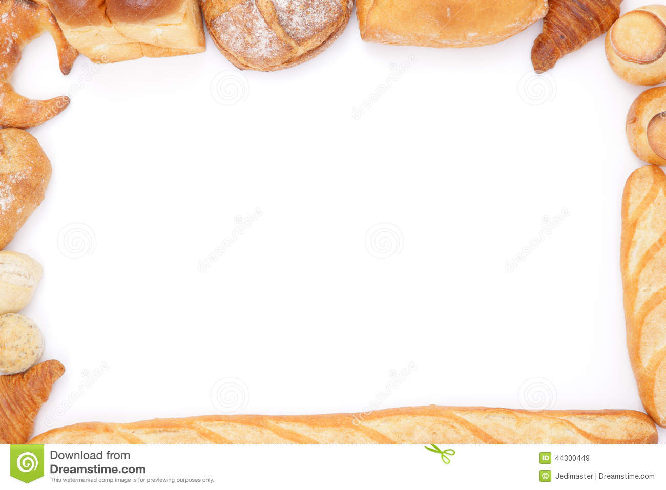 Bread pencil and in. Bakery clipart frame