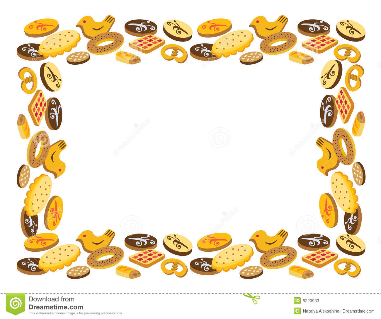 Cookie pencil and in. Bakery clipart frame