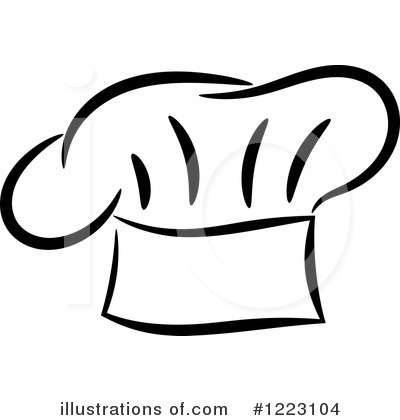 Black and white free. Bakery clipart hat