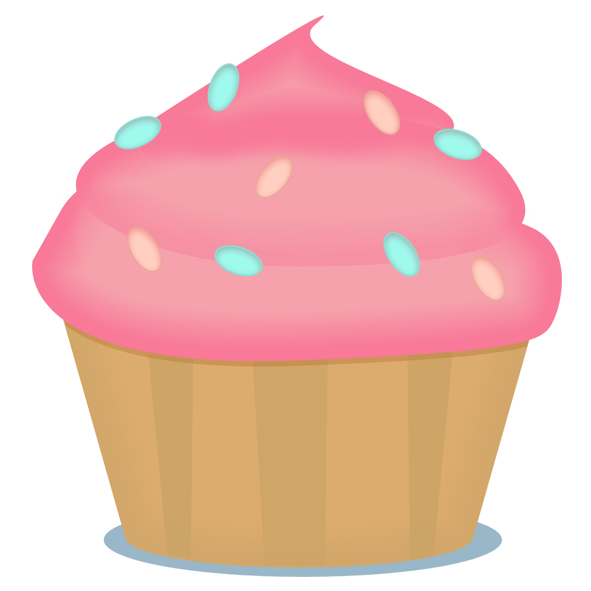 Muffins clipart little.  cupcakes printattavaa pinterest