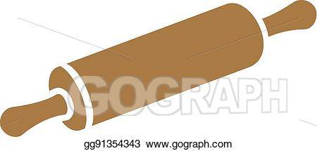 Vector art eps gg. Bakery clipart rolling pin