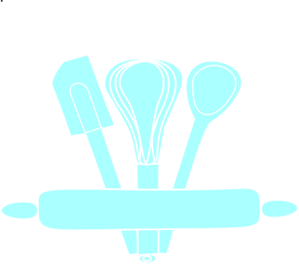 Blue utensils clip art. Baking clipart transparent
