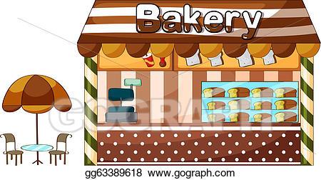 Eps vector a shop. Bakery clipart store
