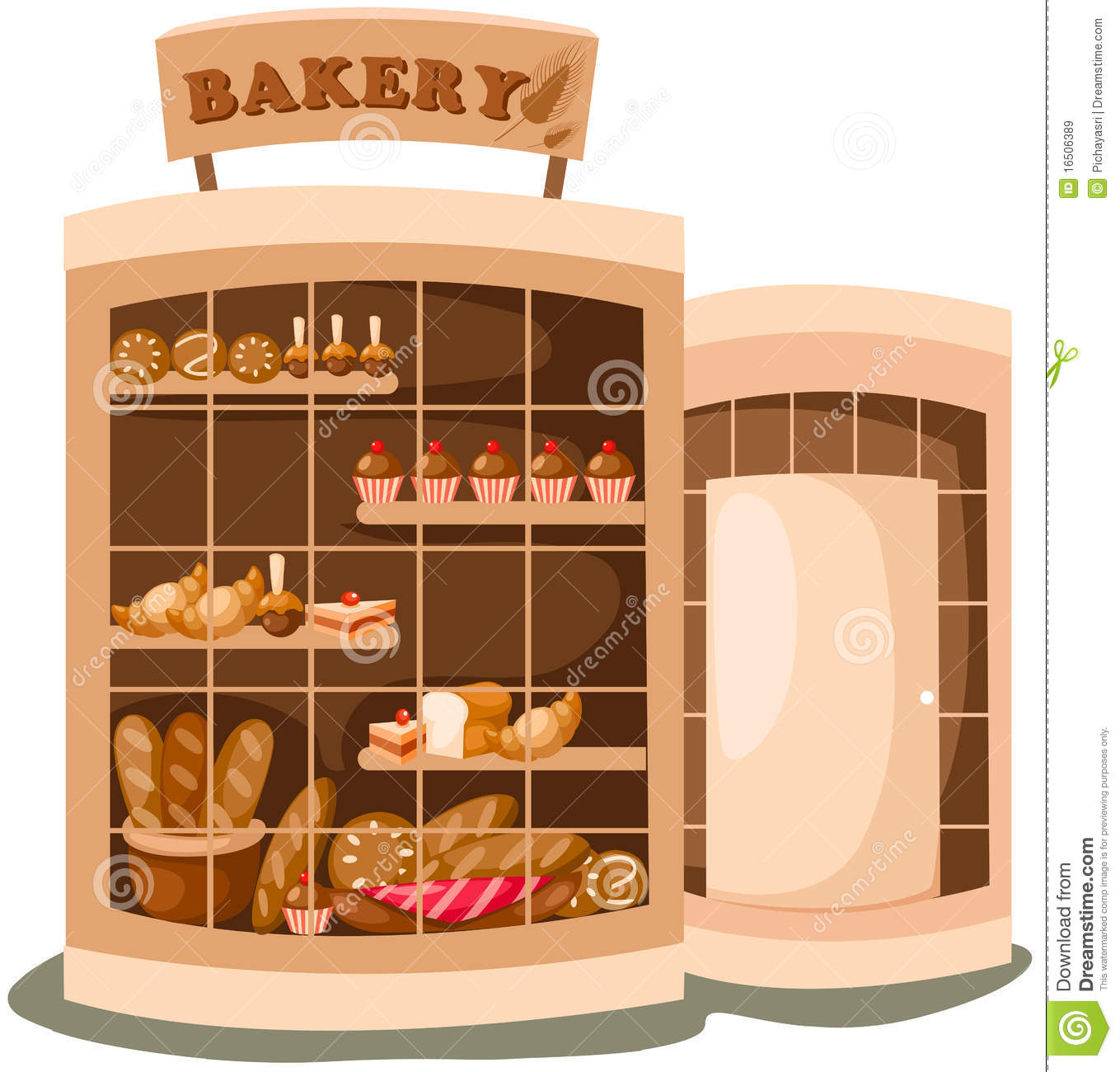 Bakery clipart store. Building