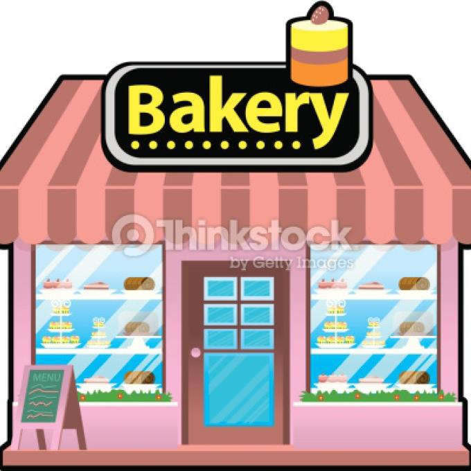 Bakery clipart store. Kitchen baking set pink