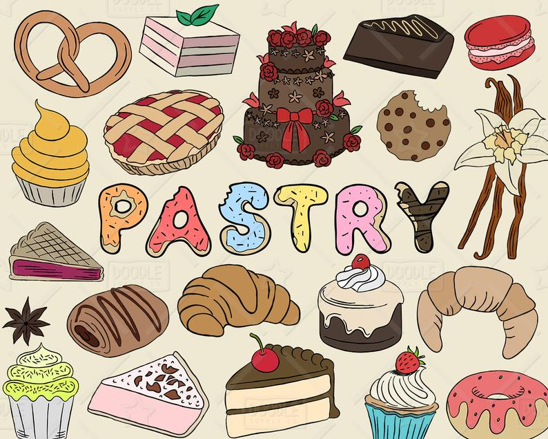 Bakery clipart vector. Pastry pack sweets baking
