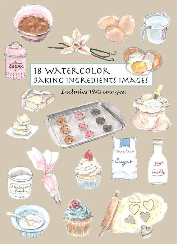 bakery clipart watercolor