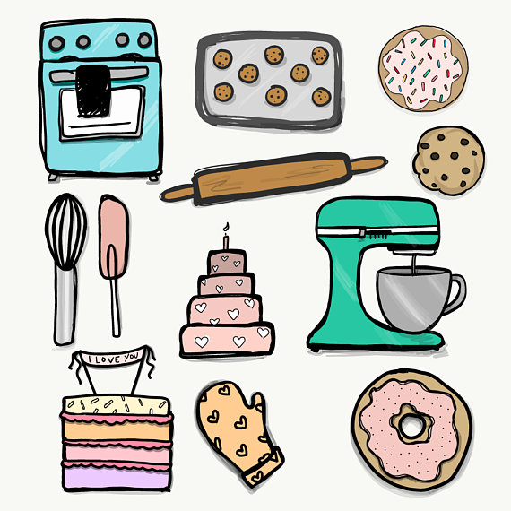 Baking clipart. Png files transparent background