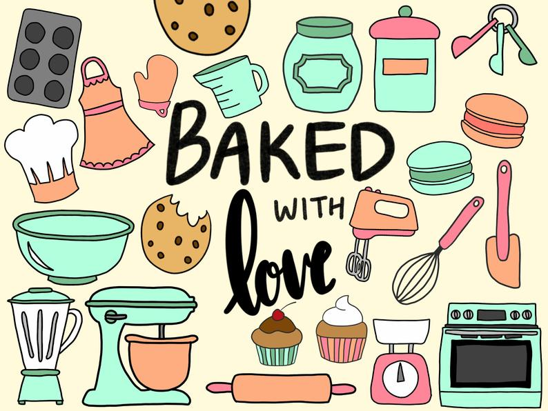 Baking clipart. Cooking clip art cute