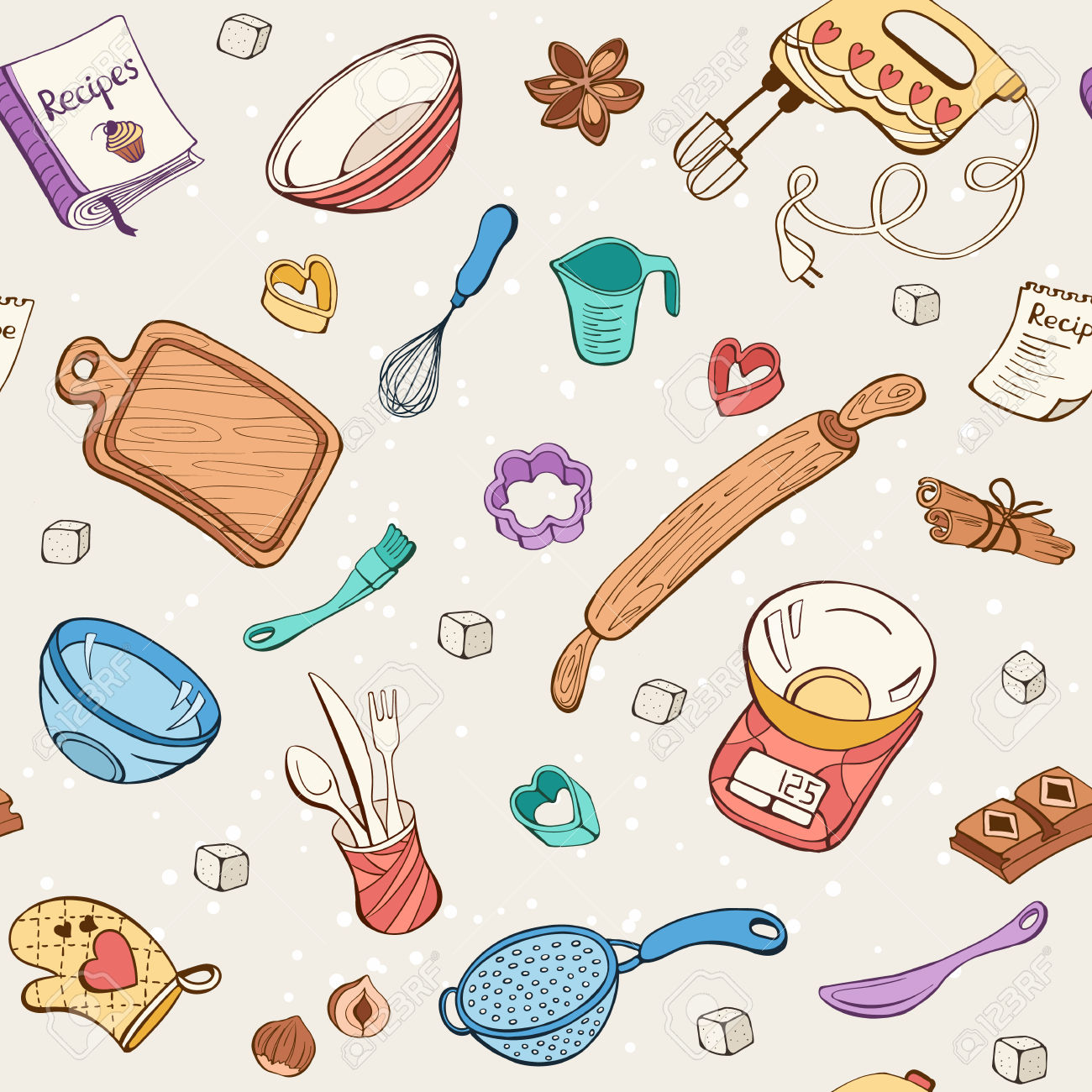 Baking clipart background. Station