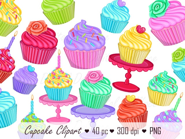 Cupcake no images graphic. Baking clipart background