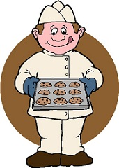 Baking clipart bake oven. Free chef with baked