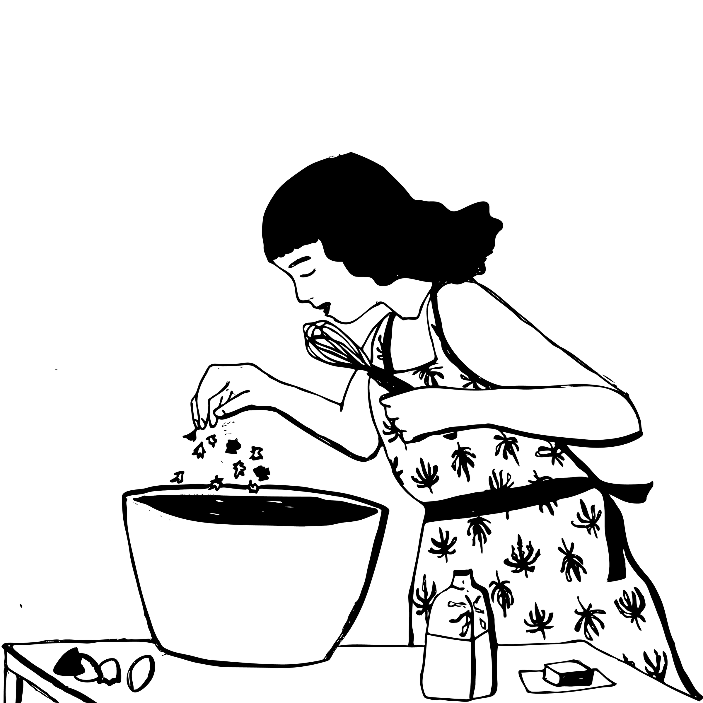 Criminal the original lady. Baking clipart baking brownie
