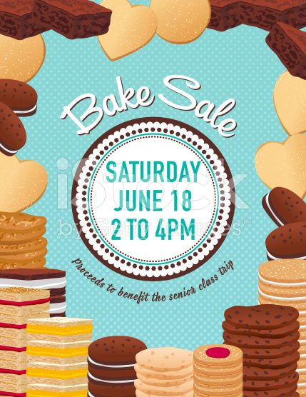 Baking clipart baking brownie. Bake sale poster template