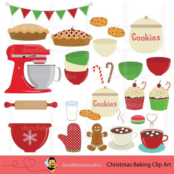 Christmas utensils clip art. Baking clipart baking equipment