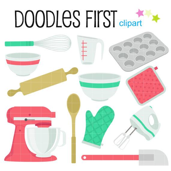 Kitchen objects digital clip. Baking clipart baking equipment