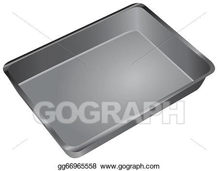 Baking clipart baking pan. Stock illustration cake drawing