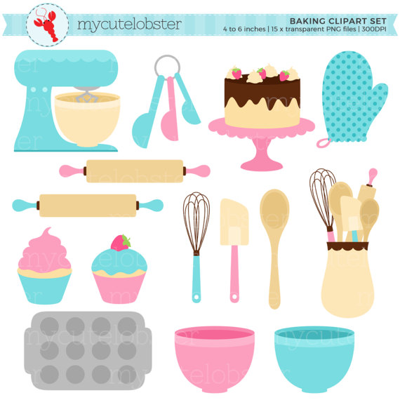 Baking clipart baking supply. Set clip art of