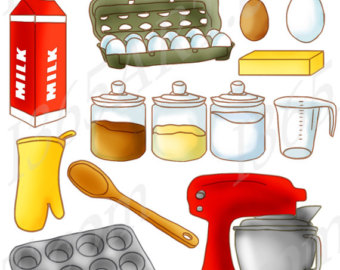 Set kitchen panda free. Baking clipart baking supply