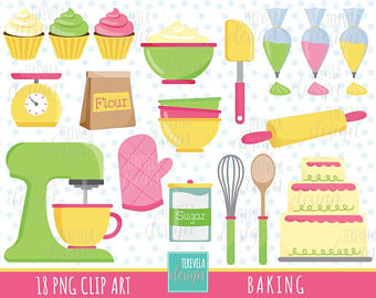Clip art etsy sale. Baking clipart baking supply