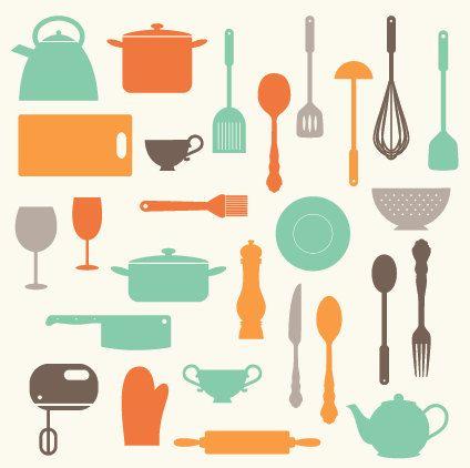 Baking clipart baking utensil. Kitchen utensils clip art