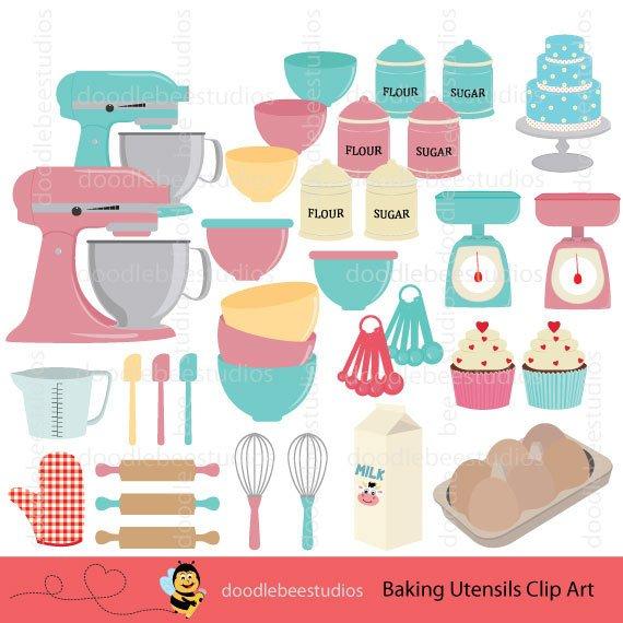 Baking clipart baking utensil. Utensils clip art equipment