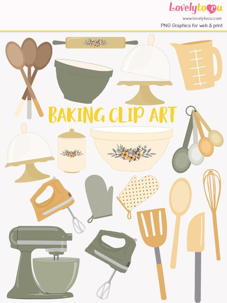 Baking clipart baking utensil. Kitchen utensils mixer baker