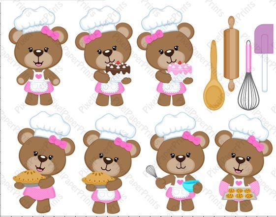 Clip art receitas para. Baking clipart bear