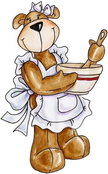 best clip art. Baking clipart bear