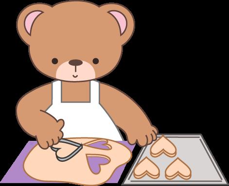 Baking clipart bear. Cute colors cliparts teddy