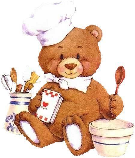 Free download clip art. Baking clipart bear