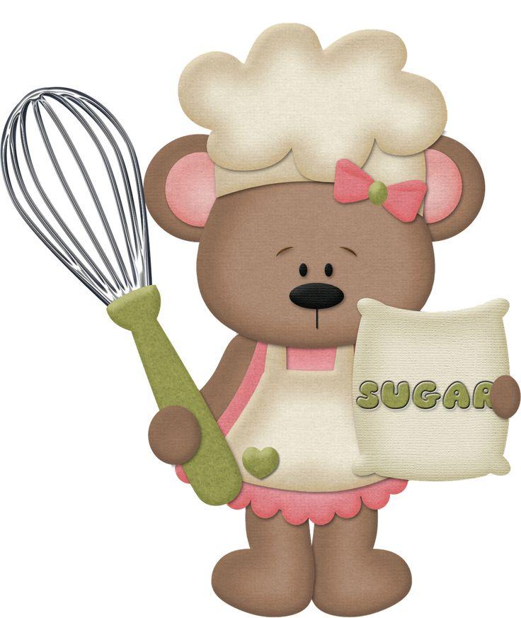 best cute clip. Baking clipart bear