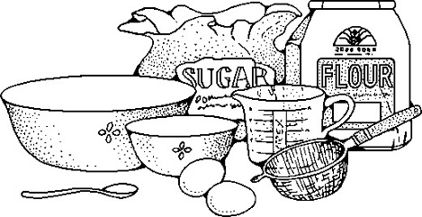 Baking clipart black and white.  collection of kids