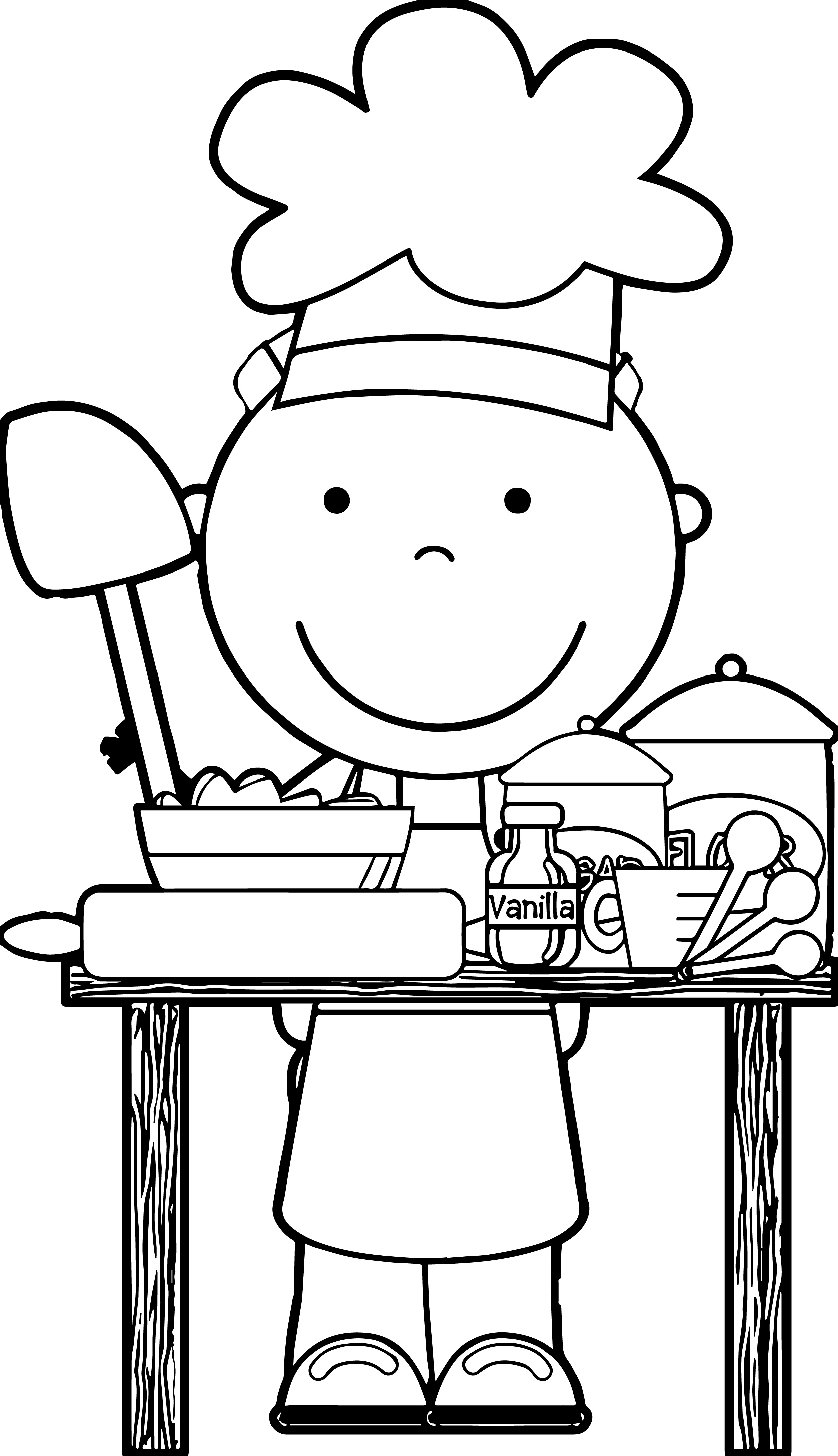 collection of kids. Baking clipart black and white