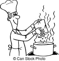 Cooking letters pencil in. Baking clipart black and white
