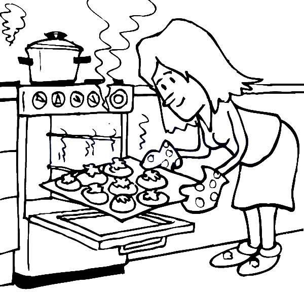 Baking clipart black and white. Drawing at getdrawings com