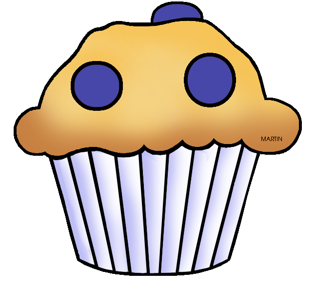 United states clip art. Baking clipart blueberry muffin