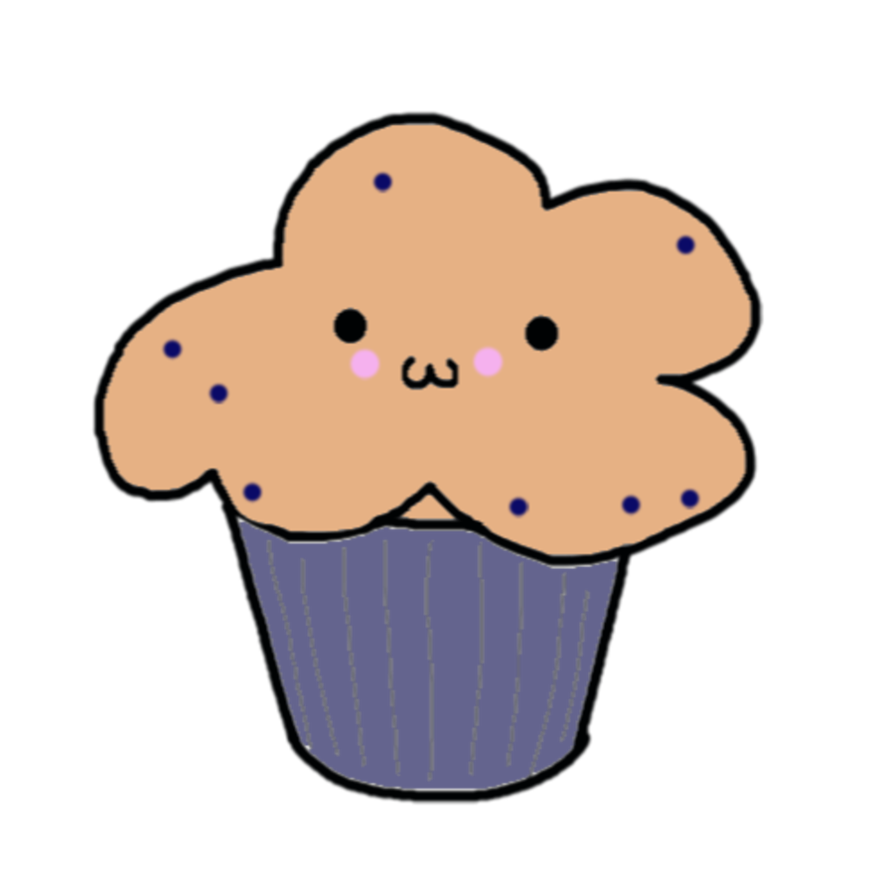 Blueberries clipart smiley face. Blueberry muffin by speepberry