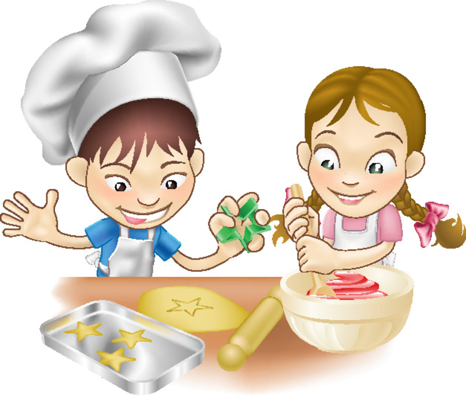 Baking clipart boy. Cooking with kids download