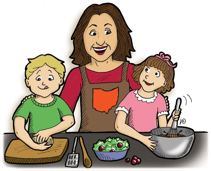 Free family cooking cliparts. Baking clipart boy